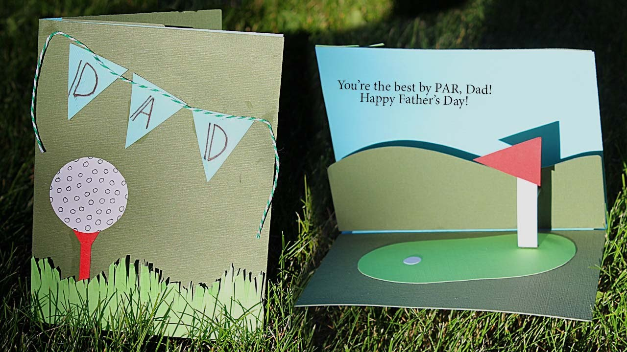 Golf Themed Pop-Up Card Tutorial ⛳️  | Father's Day Crafts