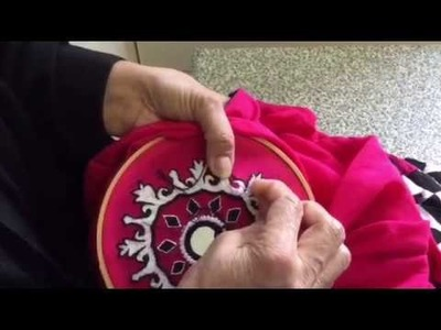 Hand Embroidery easy stitch how to make Romanian stitch