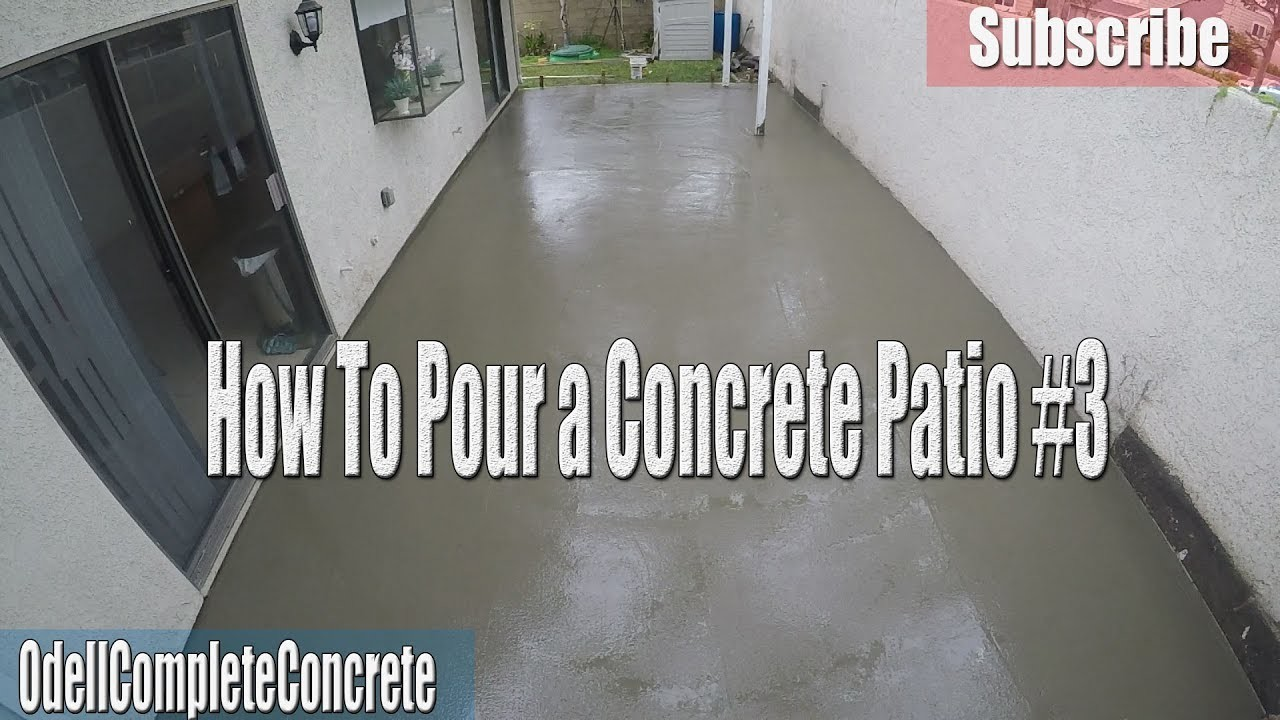 How setup and pour a concrete backyard patio diy 3 for What temperature to pour concrete outside