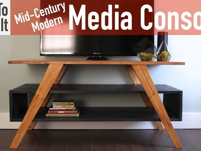How to Build a Mid-Century Modern Media Console