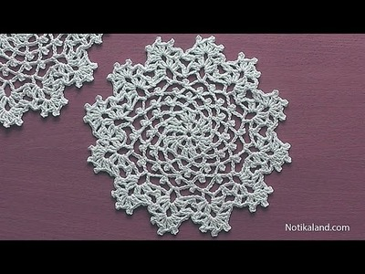 How to crochet a doily Part 2  Easy Crochet Doily for Beginners  Step by step Tutorial