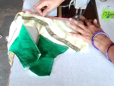 How To Cut and Stitch Bridal Designer Blouse with Back Patch    How To Sew Bridal Designer Blouse