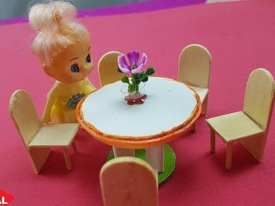 How to DIY Miniature Table chair dolls| Tự làm bàn ghế cho búp bê