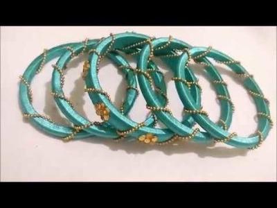 How to do bridal   bangles\ partyware bangles using ballchain\diy