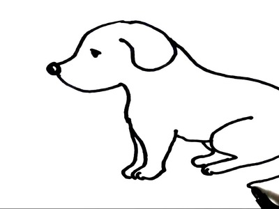 How to draw  Puppy- Step by step for children, kids, beginners