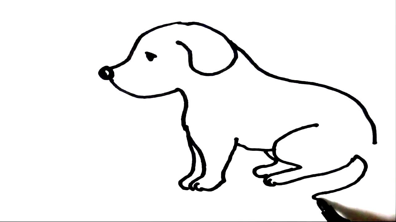 draw how to draw puppy step by step for children kids