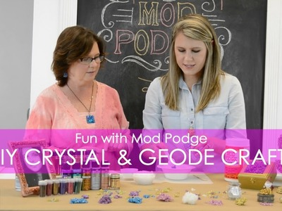 How to Make 9 Crystal & Geode Projects with Mod Podge, Rock Salt, and Glitter!