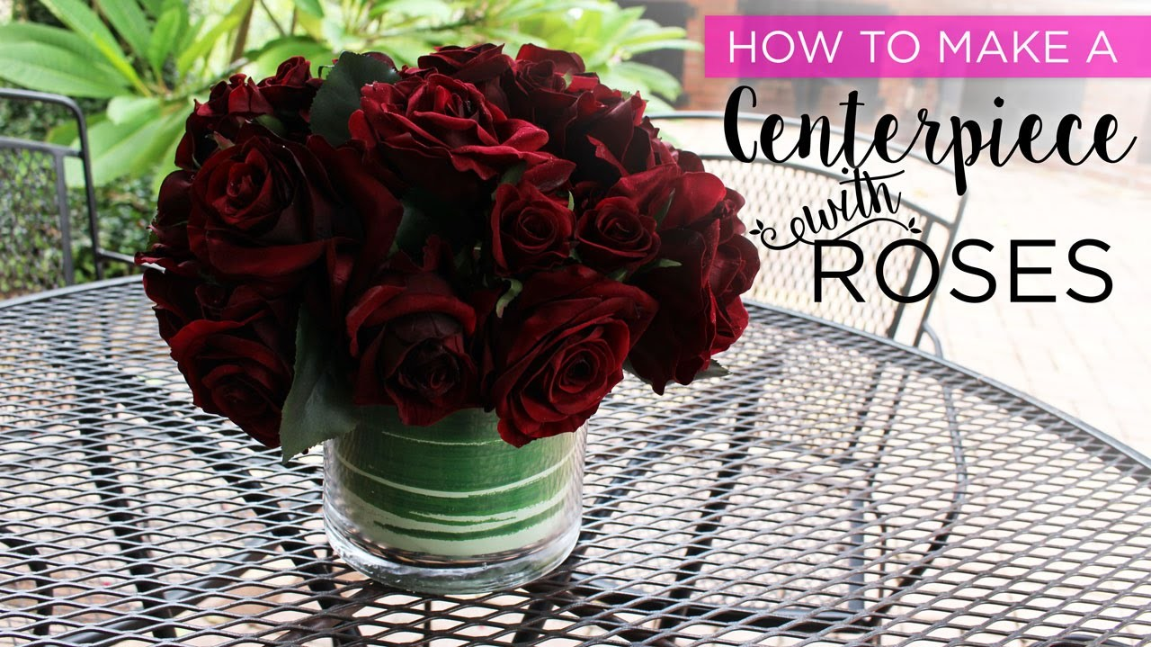 How to Make a Centerpiece with Red Roses