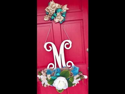 How to make a deco mesh letter door decoration