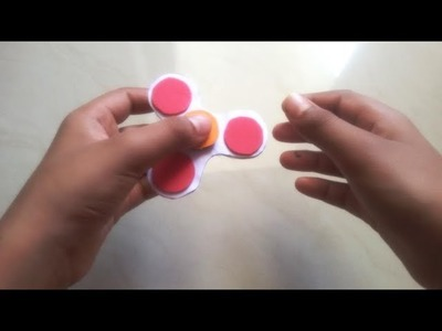 "How to make a paper ""FIDGET SPINNER"""