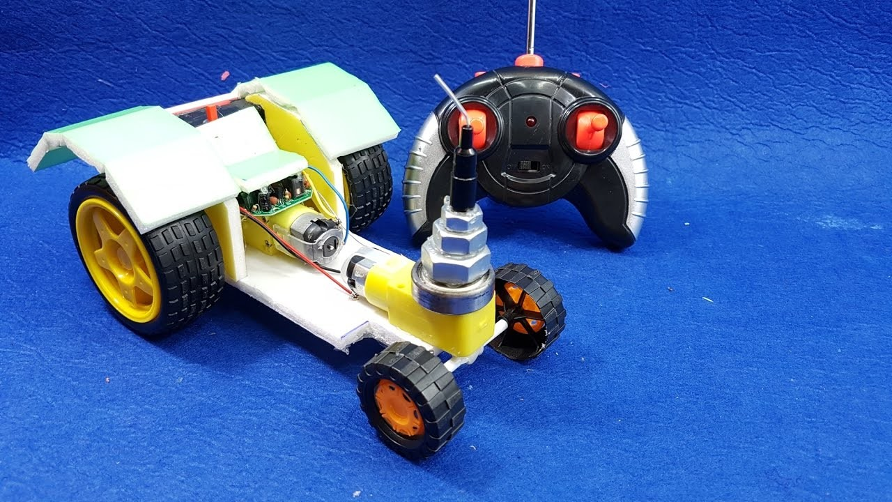 How to make a Remote controlled Tractor Simple - RC Tractor