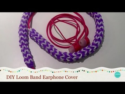 How to make an earphone cover from loom bands!