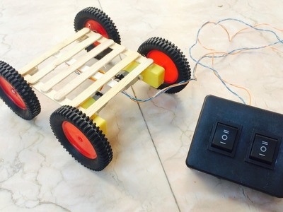 How to make Battery Powered RC Car | Remote control