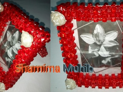 How to make beaded photo frame.photo frame (part 1)