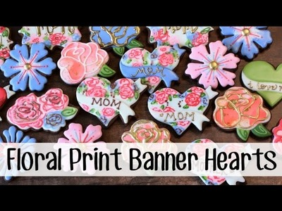 How to Make Decorated Cookies with a Floral Print