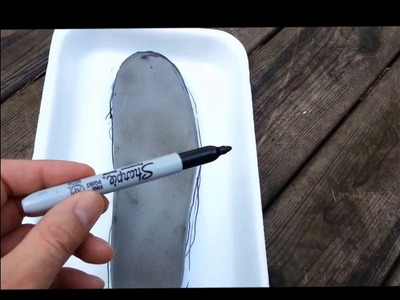 How-to Make Insoles Using A Foam Tray Tutorial