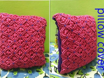 How to make macrame pillow (Cushion) cover. easy method