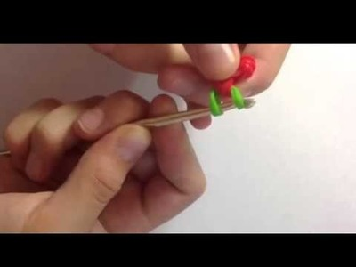 How to make strawberry with bands (without loom, only hook)