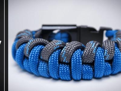 How to make The American Dream Paracord Survival Bracelet[UWA ORIGINAL]