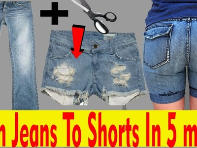 How to turn Jeans into Shorts in five Minutes | Men's Fashion DIY | 'Men's Fashion india