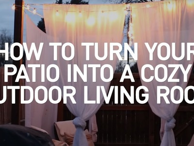 How to Turn Your Basic Patio into a Cozy Outdoor Living Room:  Crafty at Home