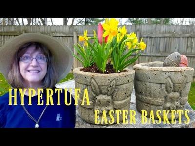 Hypertufa Easter Basket Planters - Easy to Make