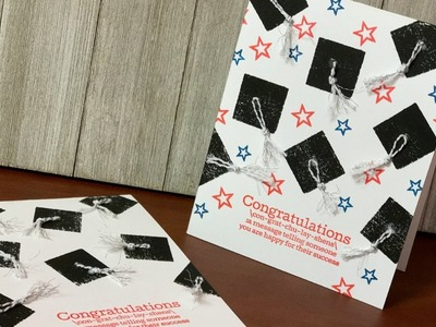 Last Minute Graduation Card with Mini Ink Pads