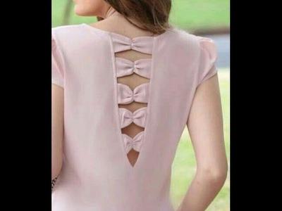Latest Designer Kameez.Kurti Bow Neck Design Cutting And Sewing.DIY!