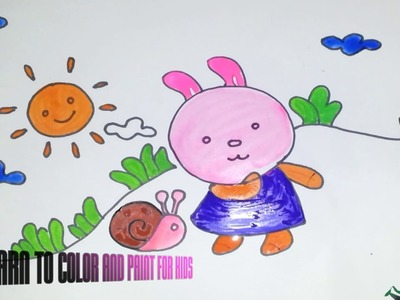 Learn to color and paint for kids Part #1