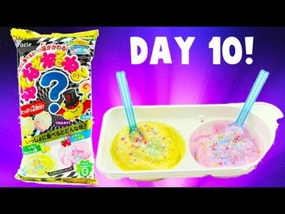 Lemon Strawberry Nazonazoneruneru - Japanese DIY Candy Kit - Day 10