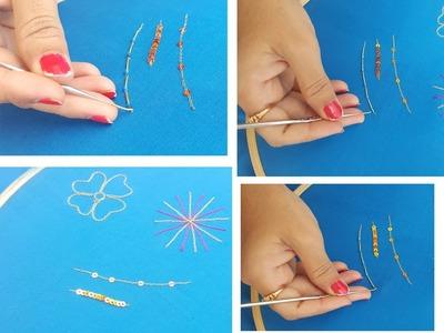 Maggam work basics learning tutorial. chain stitching maggam work