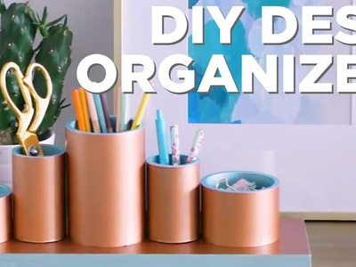 Make a DIY Desk Organizer With PVC Pipe - HGTV