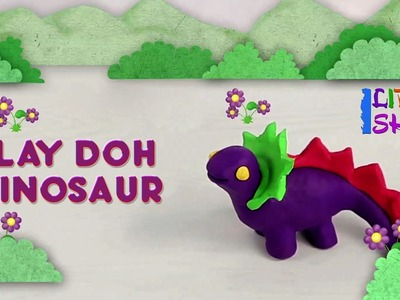 Making of Play-Doh Dinosaur | Clay Modeling for Children Easy Animals | Fun Clay modelling Ideas