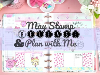 May Release + Plan with me! | Happy planner| Stamping