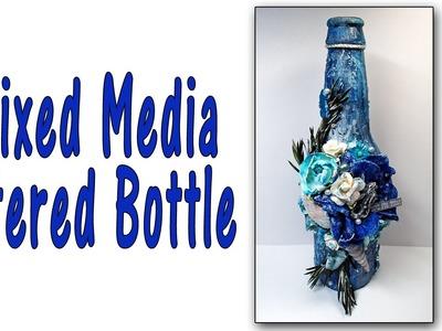Mixed Media Altered Bottle Tutorial