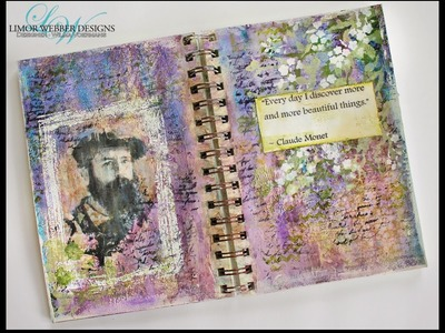 Mixed Media Art Journal . With a wink to. . Monet