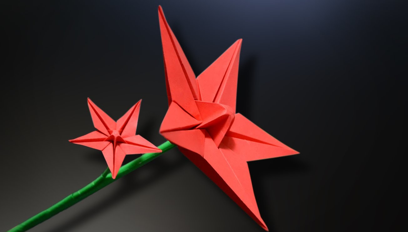 origami star flower instructions in english br my