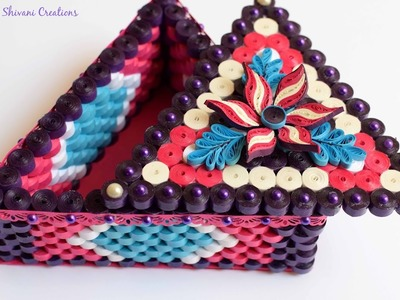Part One: How to make Jewellery Box. Quilled Triangle Box. DIY Jewellery Box