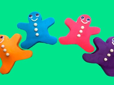 Play Doh Gingerbread man Surprise Peppa Pig Minions Learn Colours in English