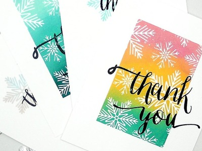 Quick and Easy Thank You Cards