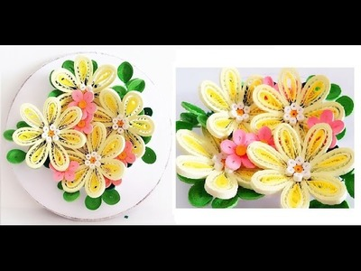 Quilling Flower Decoration Series. Quilling Flower 10 Learning Video