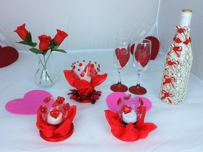 Romantic Valentine Tea Light candle .  Very Easy to make!!