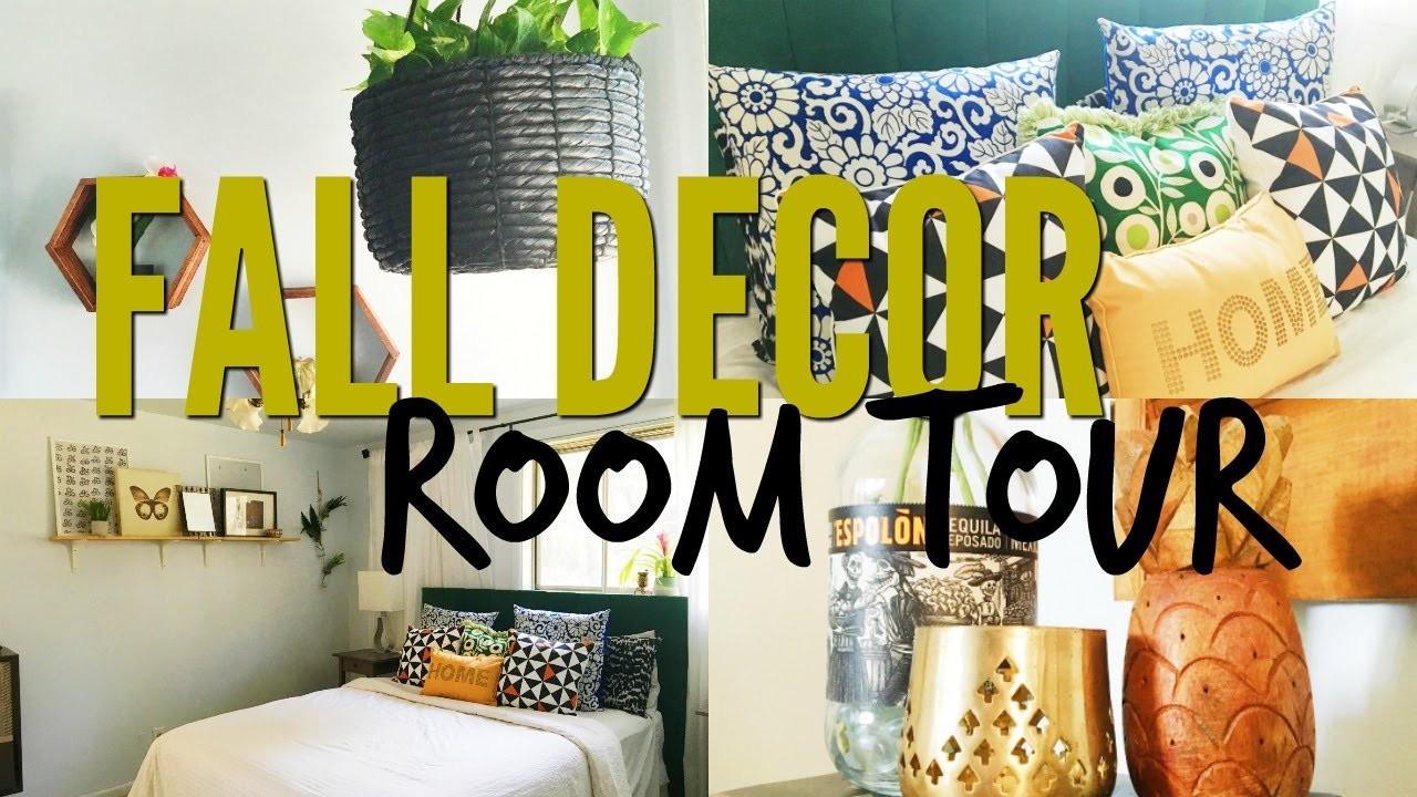 Room Tour  + Fall Decor   Pinterest Inspired