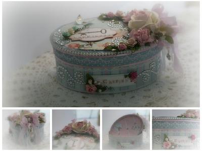 Shabby Chic Oval Box