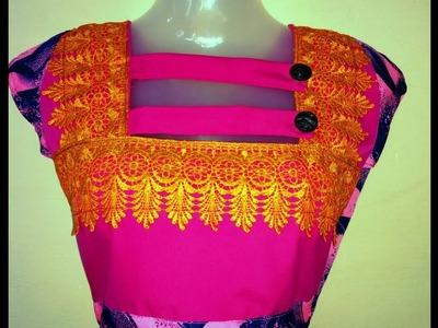 Shaif neck design cutting and stitching DIY सैफ गर्दन डिजाइन कट और सिलाई