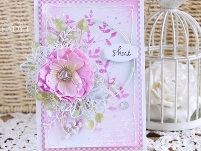 Shine - Cardmaking Tutorial - Penny Black  - Lady E -
