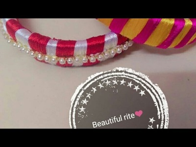 Silk thread bangle | DIY 2 | simple and easy | latest | viral