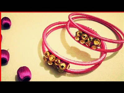 Silk thread trendy bangles easy way in home