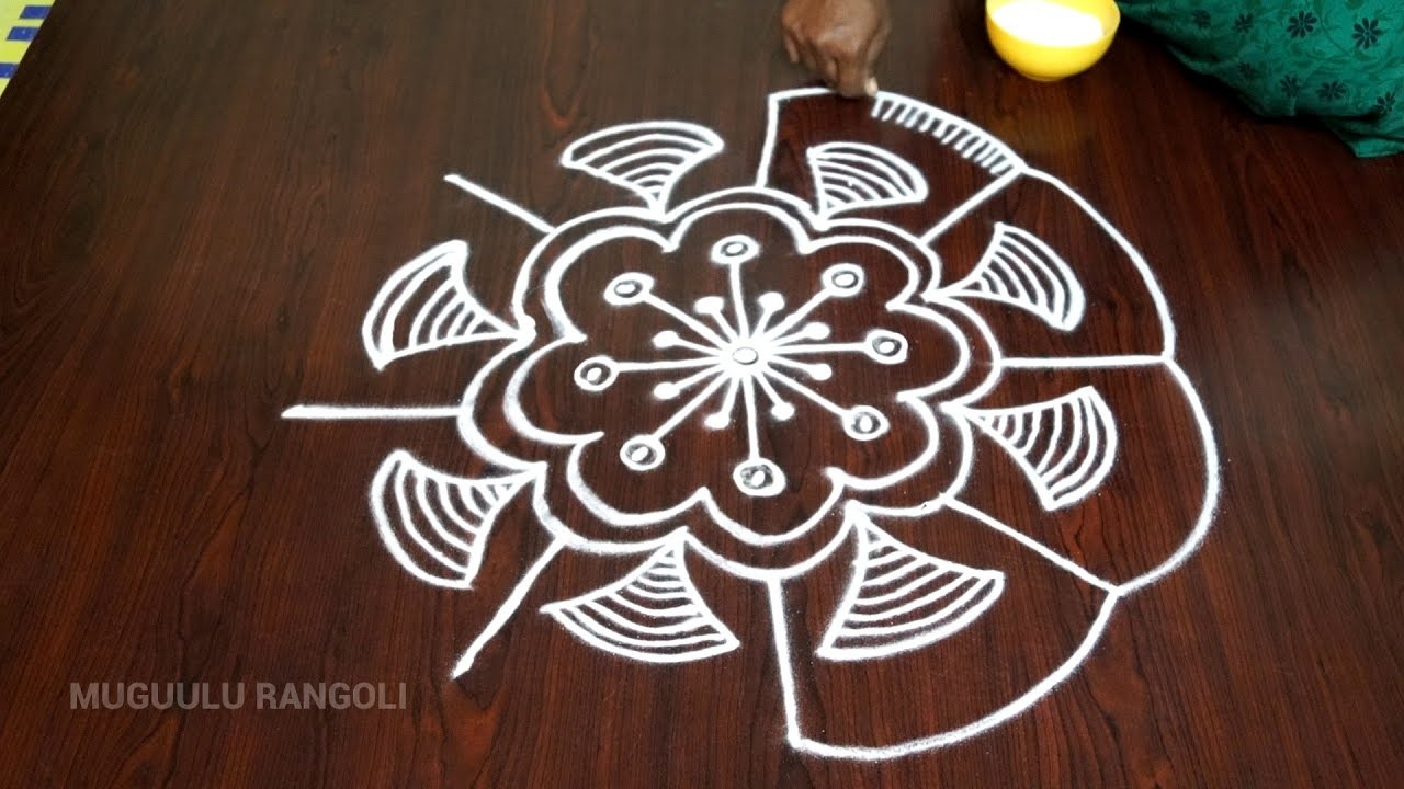 Simple and easy rangoli patterns simple and beautiful for Home made rangoli designs