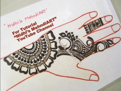 Simple Arabic Mehndi Designs Tutorial- DIY Easy Henna Tattoo